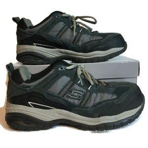 Skechers Leather Work Steel Toe Memory Sneakers